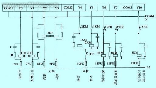 plc与光电开关接线图