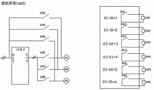 台达变频器多泵恒压供水应用及电机切换问题